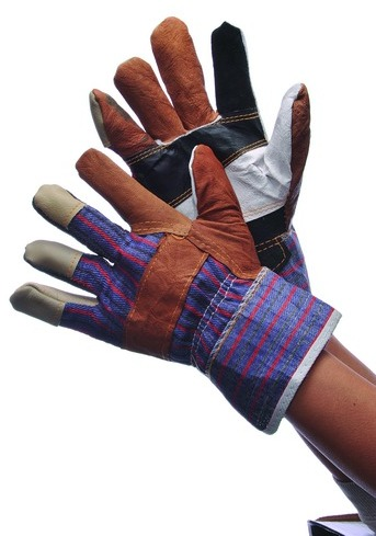 Multi Color LEATHER Work GLOVES [635297]