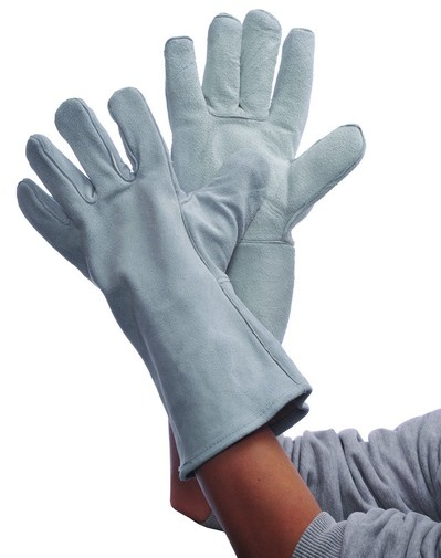 Gray LEATHER Welding GLOVES [572409]