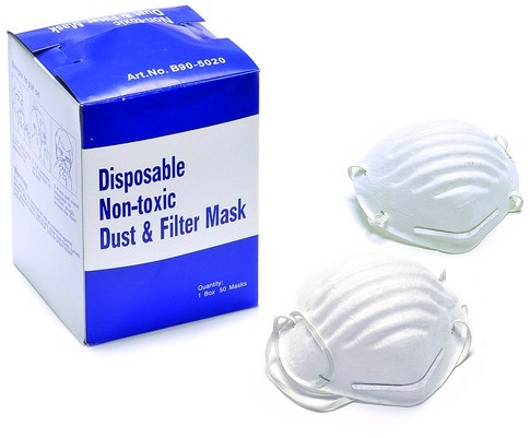 White Nuisance Dust Mask- Single Strap