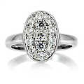 Carleen's CZ Oval  Engagement Ring - 1.3 TCW Sterl