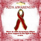 AIDS Awareness Pin