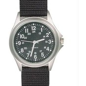 Field Watch, Black Nylon Strap, Black Face