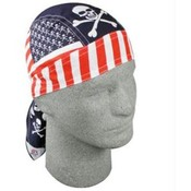 Flydanna&amp;reg;, 100% Cotton, Patriotic Skull