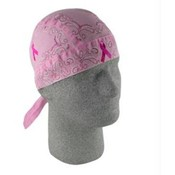 Flydanna®,100% Cotton, Breast Cancer Pink Ribbon Paisley