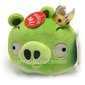 5&quot; Angry Birds King Pig with Sound &amp;amp; Officially Li