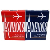 Decks Aviator Cards Red/Blue - Poker Size Wholesale Bulk
