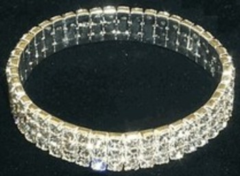 WHOLESALE - BLACK WIDOW PRODUCTS - CRYSTAL STRETCH BRACELET/ANKLET