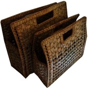 Hand Bag, Wicker - Set of 2