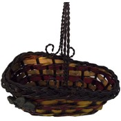 Basket, Wine - Wicker w/metal handle