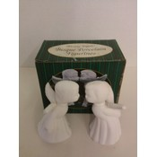 Bisque Porcelain Figures, 'Kissing Angels' - Set of 2 Wholesale Bulk