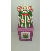 "Ceramic Baking Soda Holder ""Gingerbread Angel"""