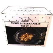 Candles, Moon & Star Floating - Set of 6