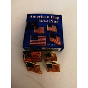 American Flag Pin - Set of 4