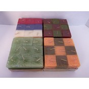 Votive Candles, Square - Assorted Colors