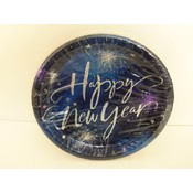 "Happy New Year 8-3/4"" Dinner Plate - 8ct"