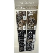 Family Car Decals Clip Strip