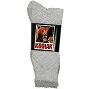 Women's Kodiak grey crew socks
