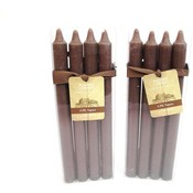 4 Pack Mocha Tapers - Unscented