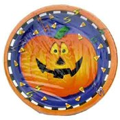 "8Ct. Smiling Pumpkin 7"" Plates"