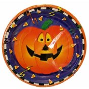 "8Ct. Smiling Pumpkins 9"" Plates"