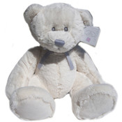 Russ Large Silver White Lullaby Plush Bear