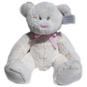 Russ Large Pink White Lullaby Bear