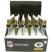 Green Bay Packers Retractable Clip Pen in Display Wholesale Bulk