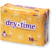 Dry Time Baby Diapers Size 5; 30-38 lbs