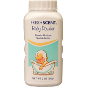 2 oz Freshscent Baby Powder Talc