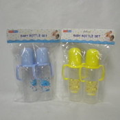 2Pk 8Oz Baby Bottle Set Assorted Colors