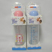 8 OZ Plastic Baby Bottle Assorted Colors