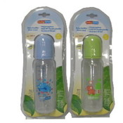 8 OZ BPA Free Plastic Baby Bottle