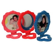 5 Inch Round Mirror Assorted Colors