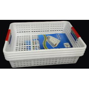 10 X 13.5 X 3.3 Inc Plastic Basket color Handles