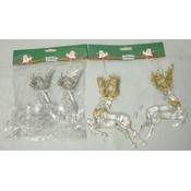 Reindeer Christmas Tree Ornaments-2 Piece Pkg. Wholesale Bulk