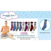 Ladies Snuggly Sock Long with Non Skid Grippers