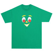 Gumby Face T-Shirt - Kelly Green - Sm-XL Wholesale Bulk