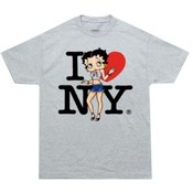 "Betty ""I Love New York"" Junior Top - Gray"