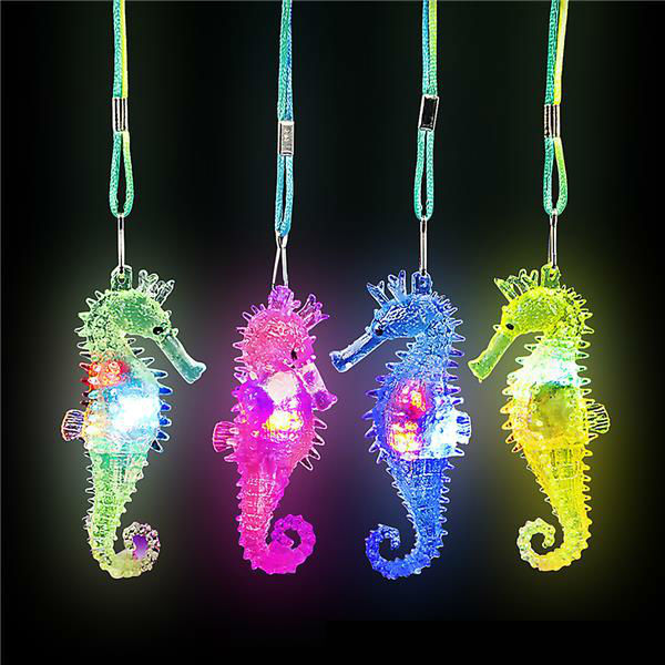 wholesale 3 light up flashing sea horse necklace sku. Black Bedroom Furniture Sets. Home Design Ideas