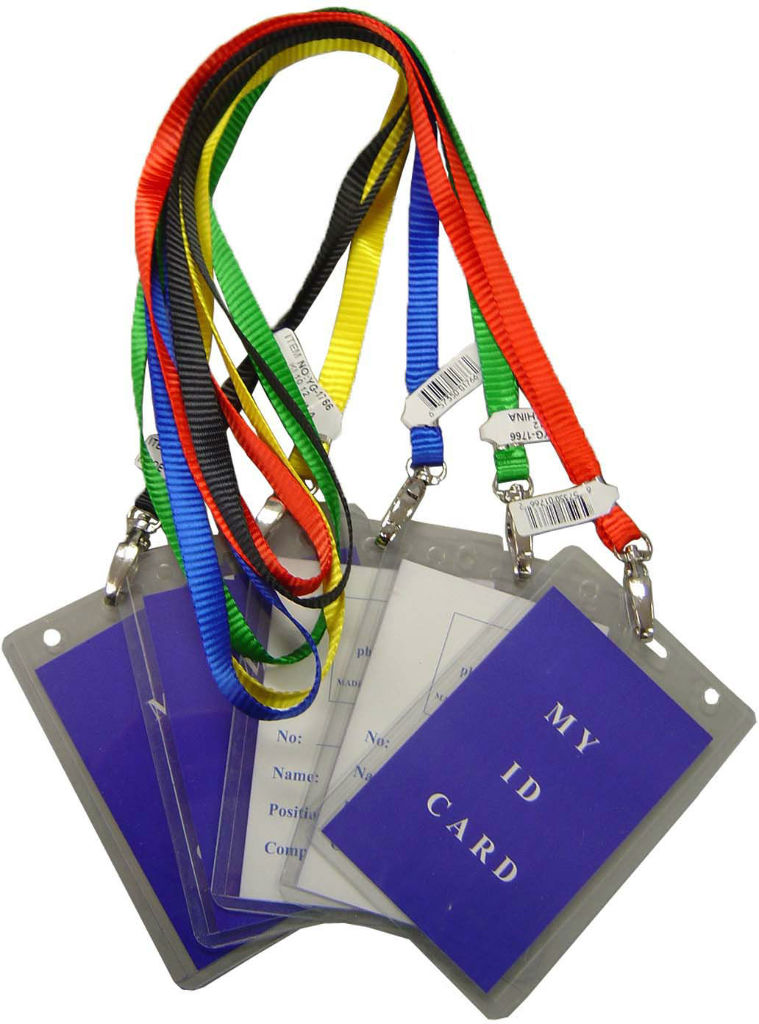 I.D. Holder with Assorted Color Lanyards [1877117]