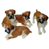 Poly Resin Boxer Figurines