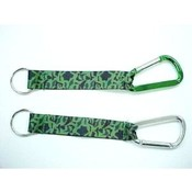 Camouflage Carabiner Key Chain with Strap Wholesale Bulk