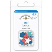 Doodlebug Stars & Stripes Braddies Shaped Brads-Stars/Red, White & Blue Wholesale Bulk