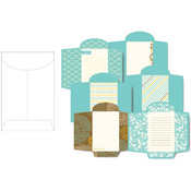 Prima Marketing Wishes & Dreams Die-Cut Foldable Envelopes 2'X3' 24/Pad-6 Double-Sided Designs/4 Each Wholesale Bulk