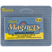 Darice Sticky Back Magnet Sheet 2'X3.5' 10/Pkg Wholesale Bulk