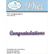 Elizabeth Craft Designs Elizabeth Craft Metal Die-Congratulations Wholesale Bulk