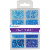 Multicraft Imports Glass Bead Kit 45grams/Pkg-The Blues Wholesale Bulk