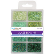 Multicraft Imports Glass Bead Kit 45grams/Pkg-Going Green Wholesale Bulk