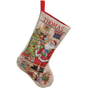 Classic Santa Stocking Counted Cross Stitch Kit
