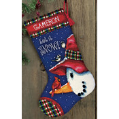 Snowman Perch Needlepoint Kit